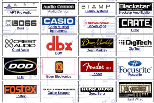 Collection of music vendor logos
